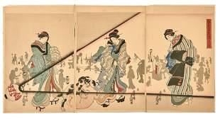 Utagawa Kunisada (Toyokuni III.): In einer