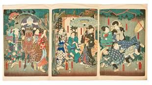 Utagawa Kunisada (Toyokuni III.), Kabukiszene