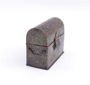 Miniaturkaestchen in Truhenform, Wohl Indien, 19. Jh.