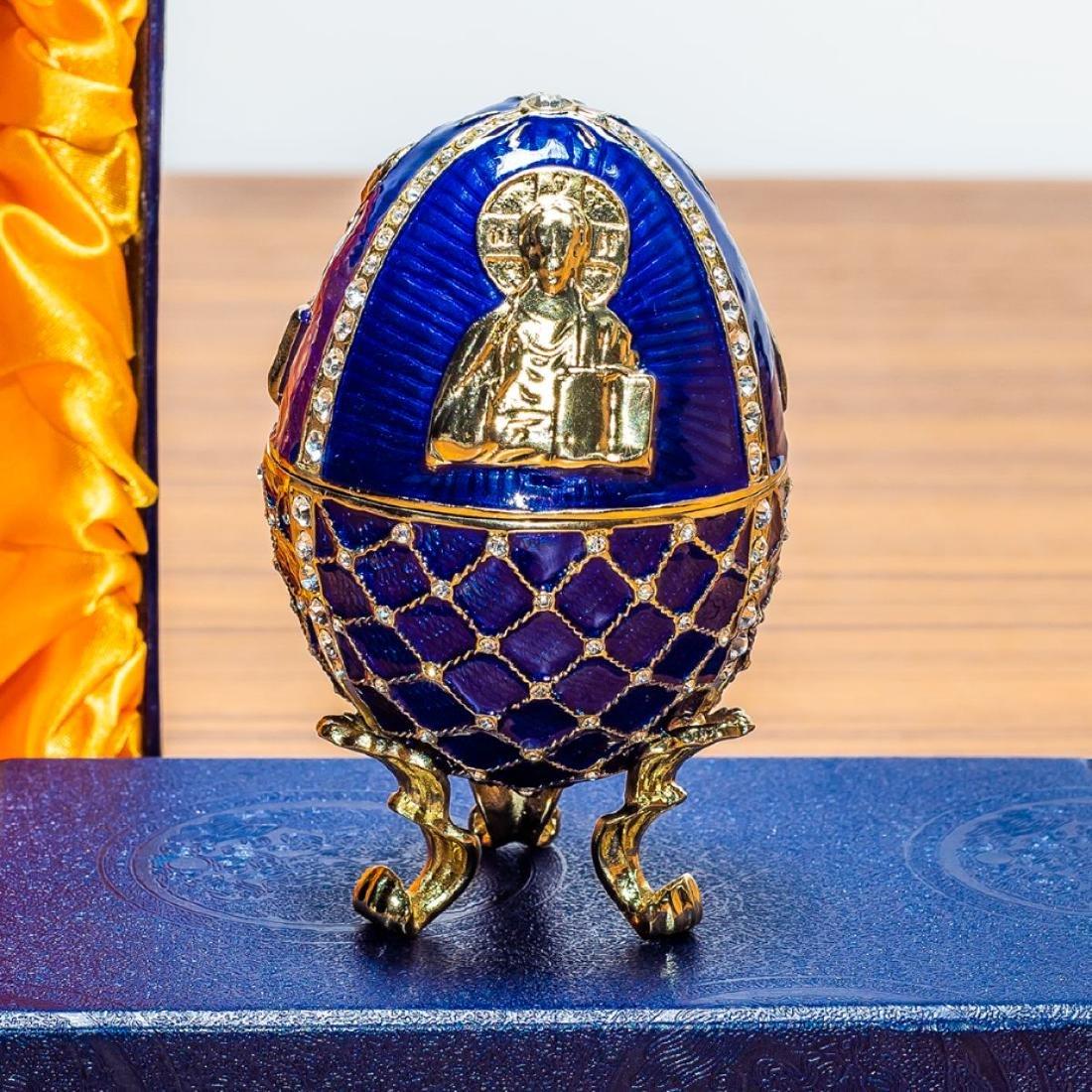 4†Jesus the Savior Icon Royal Inspired Russian Egg
