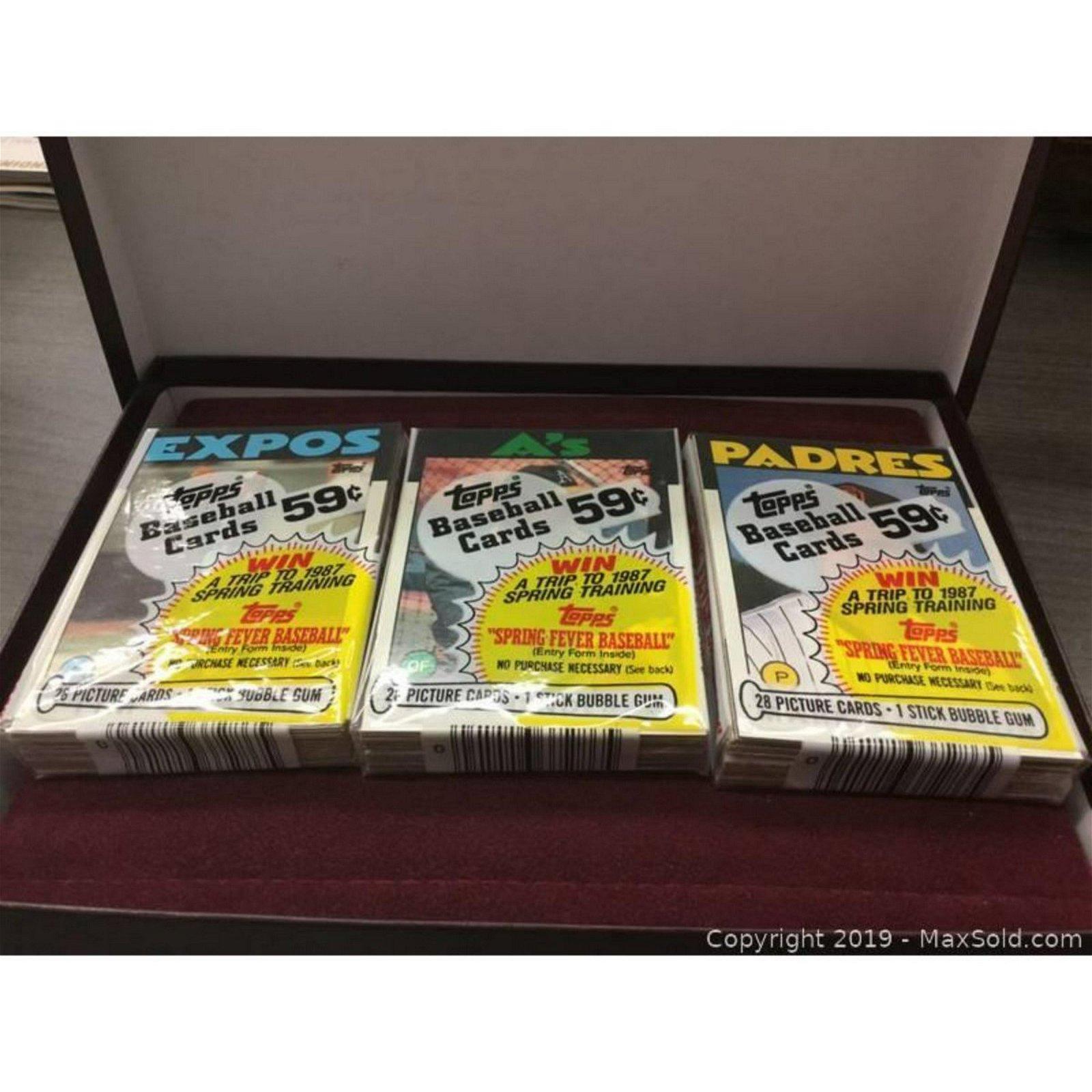 Lot Of 3 Vintage 1985 Topps Baseball Card Packs