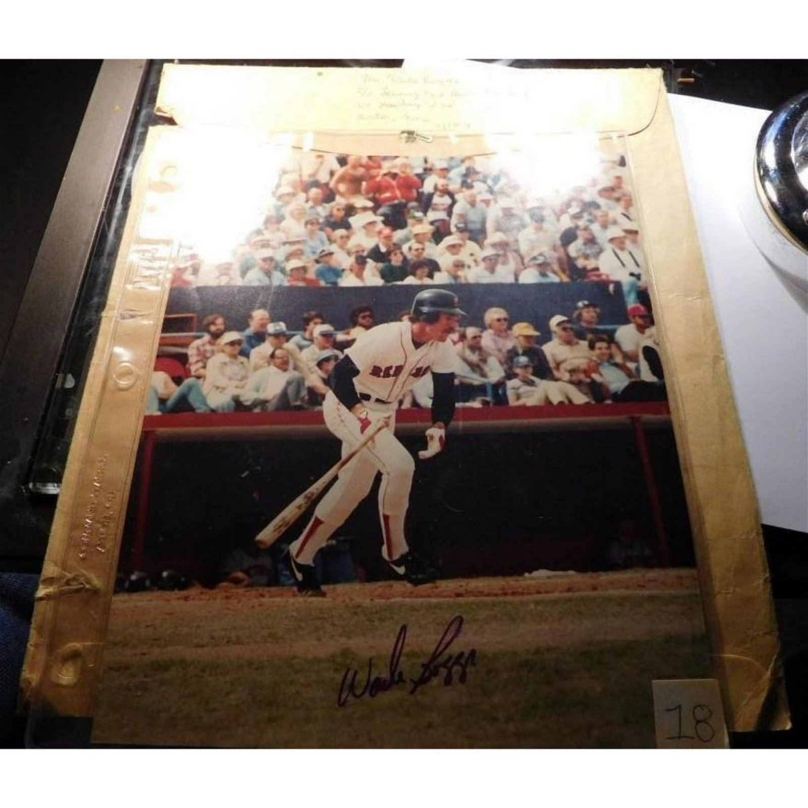 """Wade Boggs Autographed 8"""" x 11"""" Color Photograph with"""