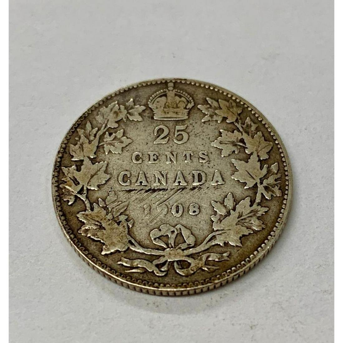 1908 Canadian 25 Cent Coin