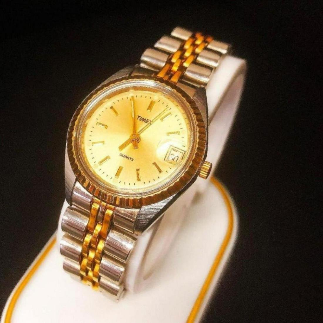 Ladies Gold and Silver Tone Timex Wrist Watch
