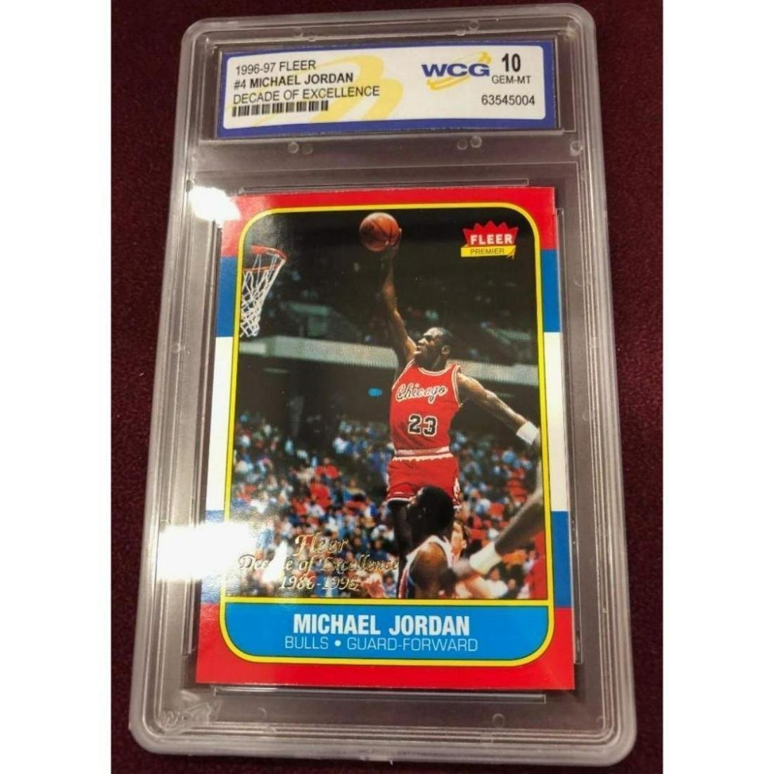 1996 Fleer Chicago Bulls Michael Jordan Decade of