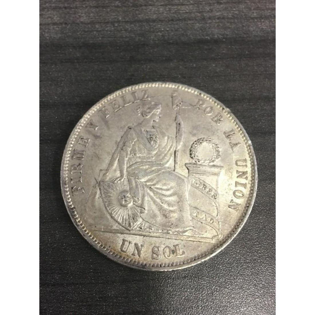 1820 8 Reales Colonial Coin Silver Pillar Dollar Spain