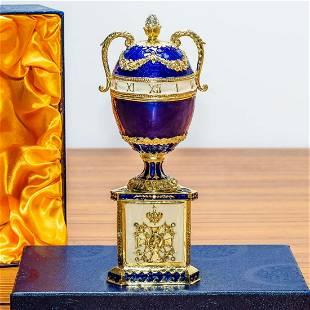 1895 Blue Serpent Clock Royal Russian Egg 7