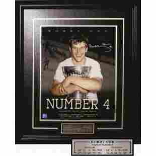 Bobby Orr Number 4 Stanley Cup Young Orr Autograph