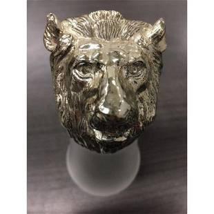 Rare Large Bear Head Shot Glass