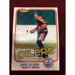 Vintage 1981 Jari Kurri Edmonton Oilers Rookie Hockey