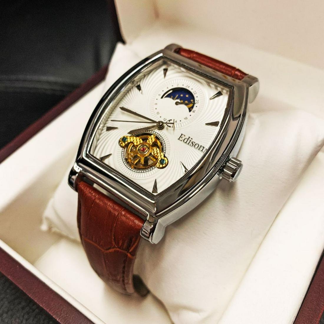 Mens L.A. Banus Royal White Polished Steel Chronograph
