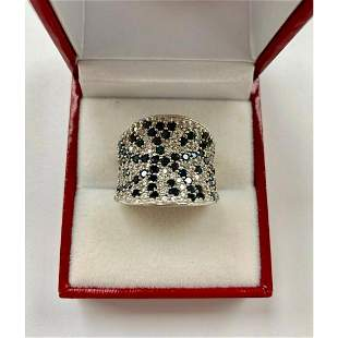 Ladies Simulated Diamond Ring with 925 Sterling SIlver