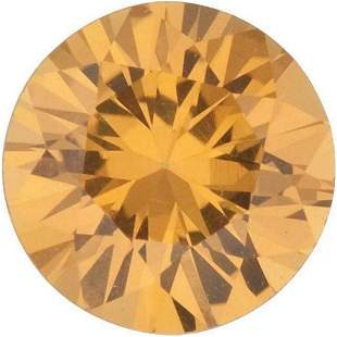 Round Cut Natural Amber Yellow Sapphire - Extra Fine