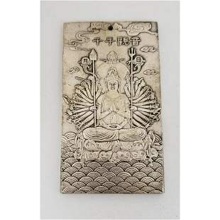 Chinese Tibetan Silver Zodiac Bullion Bar