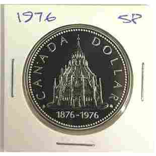"""Canada Silver Dollar 1876-1976 """"Library Of Parliment"""""""