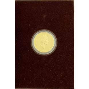 1991 Canadian Proof $100 Coin with COA