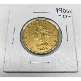 1906-O New Orleans American Liberty Head Gold Eagle