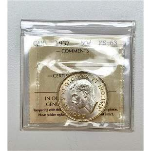 50 Cents - George VI with IND:IMP: