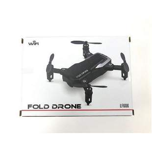 Black Fold Drone With HD Camera & Wifi Connectability