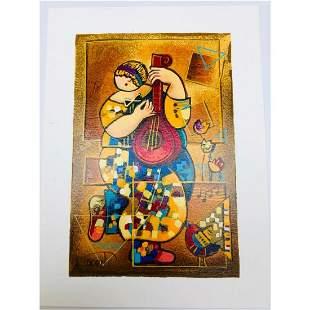 Dorit Levi 'Banjo Song' Limited Edition Serigraph 51/60