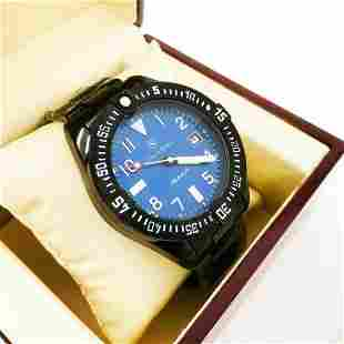 Men's STOCKWELL Automatic Watch, Blue Dial, Black