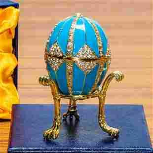 Crystal Rhombus on Blue Enamel Royal Inspired Russian