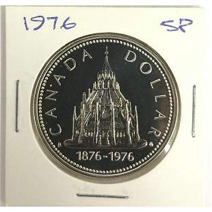 "Canada Silver Dollar 1876-1976 ""Library Of Parliament"""