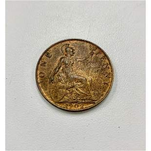 1902 1 Penny - Edward VII