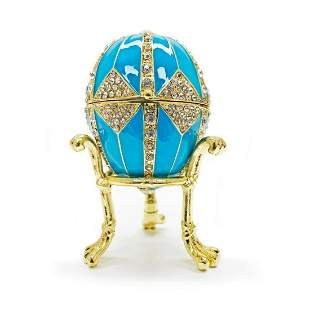 3.15†Crystal Rhombus on Blue Enamel Royal Inspired