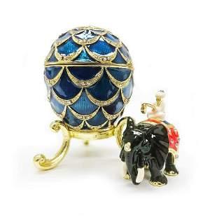 1900 Pine Cone Royal Russian Egg Ornamental Ring Box
