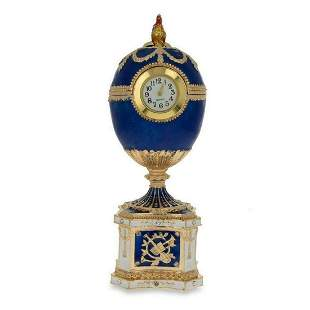 1904 Kelch Chanticleer Blue Enamel Royal Russian Egg