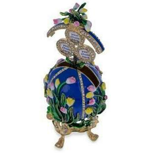 1898 Lilies of the Valley Royal Russian Inspired Egg