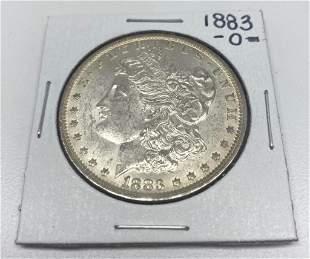 Rare O 1883 Morgan Silver US Dollar