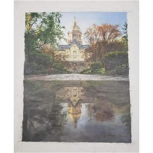 Original Commemorative Oil Painting Of Notre Dame's