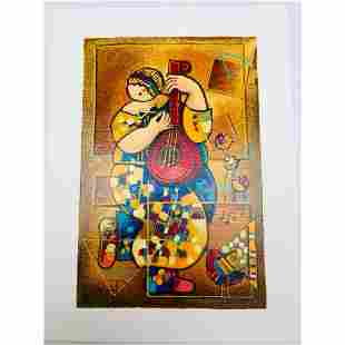 Dorit Levi 'Banjo Song' Limited Edition Serigraph 51/60