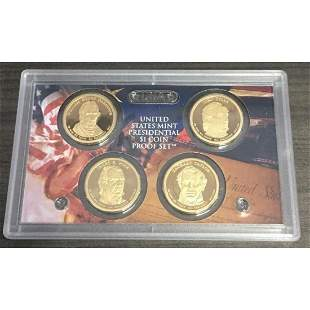 2009 PROOF US MINT PRESIDENTIAL $1 COIN 4 ea Harrison
