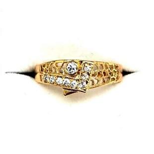 Size 7 Swarovski Crystals In 18KTGP Yellow Gold