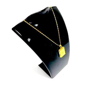 10K Gold Plated Photo Book Pendant Accompanied With