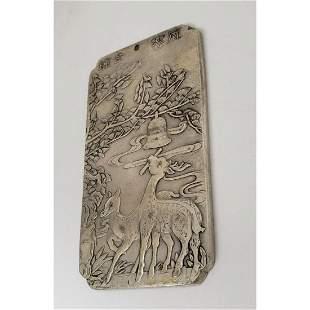 Asian Tibetan Silver Fawn Bullion Bar