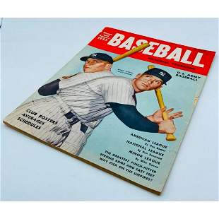 1953 Street And Smiths New York Yankees Mickey Mantle