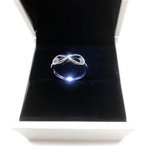 Ladies 925 Sterling Silver Infinity Ring