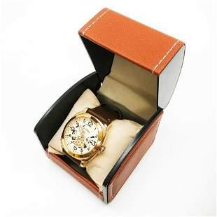Mens L.A Banus Rose Gold Gloss Finish & Genuine Leather