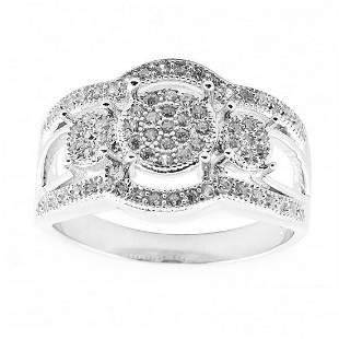 Ladies Cubic Zirconia Sterling Silver Ring