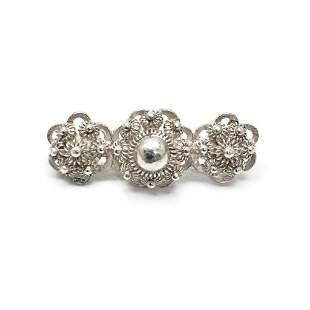 "Elegant Sterling Silver The Three Pearls"" Custom"