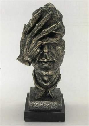 Surreal Floating Mask Face Palm Shame on Me Cold Cast