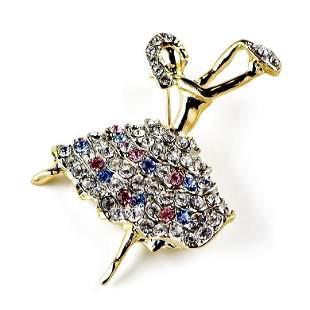 Graceful Ballet Dancer Royal Style Brooch Pin