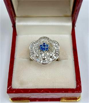 Lovely Custom Desinged Ladies Blue Citrine & Crystal