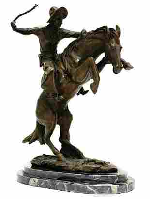 """""""Bronco Buster"""" Pure Bronze Collectible Inspired"""