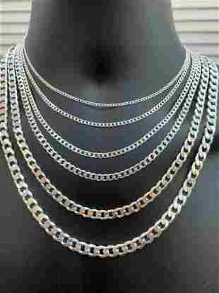 """20"""" Solid 925 Sterling Silver Cuban Chain Necklace 5mm"""