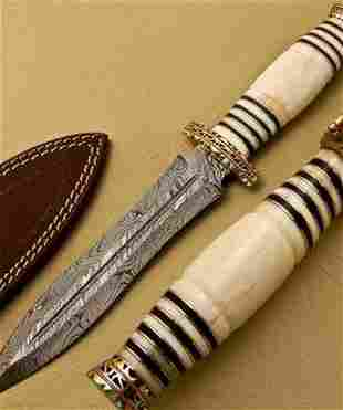 The Recruits Damascus Dagger